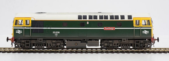 Heljan '00'Class 33 008 Eastleigh BR Green Lightly Weathered