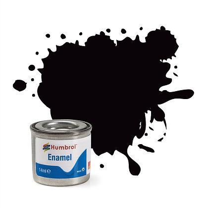 Humbrol Enamel No 85 Coal Black Satin