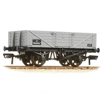 Bachmann OO 5 Plank Wagon BR Grey - 37-061C