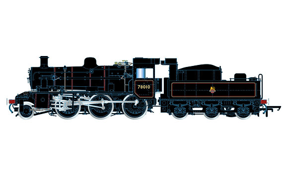 Hornby Standard 2MT Early BR Lined 78010 - R3838