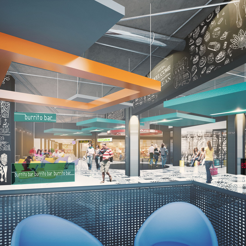 New Interior of the food court