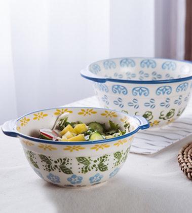 Magnolia Double Handle Salad Bowl