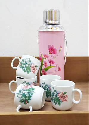 Hibiscus Ceramic Tea Cups