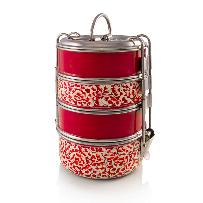 4-tier Tiffin - Red