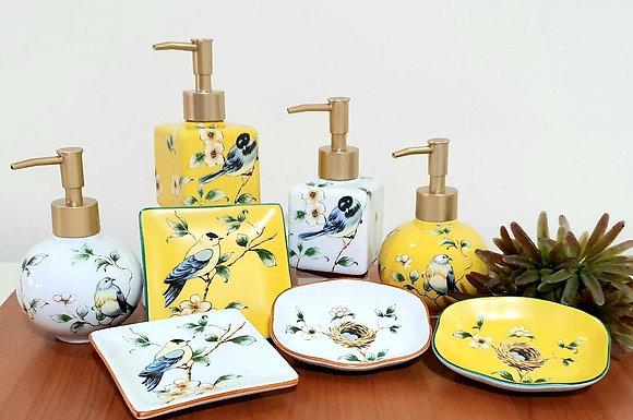 Goldfinch Soap Dispenser 2pcs Set
