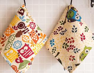 Forest animal tea towel owls.jpg