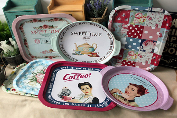 Retro Rectangular Serving Trays