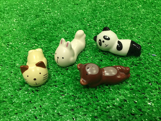 Forest Animal Chopstick Rests - Set of 4