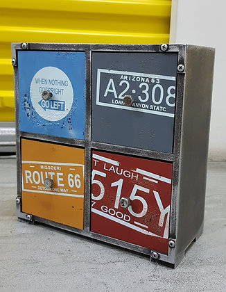 Retro Industrial Route 66 - Large 4 drawer PF01