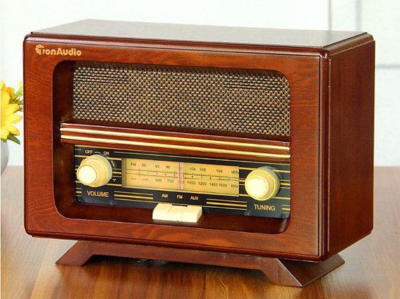 Brown Retro Style  AM/FM Radio