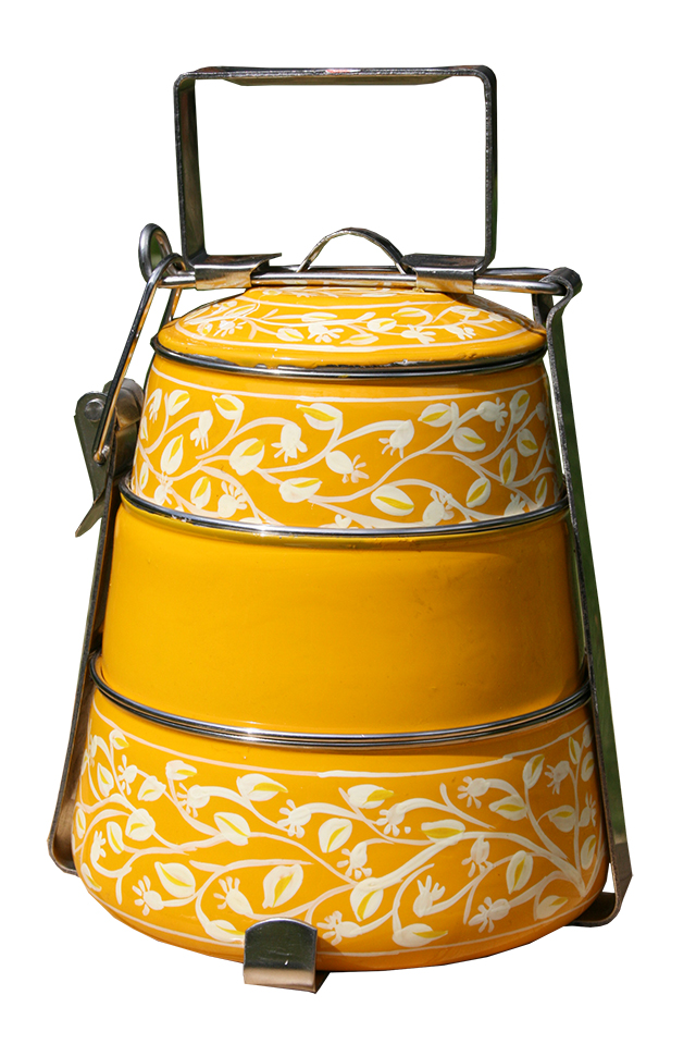 3-tier Pyramid Tiffin - Yellow