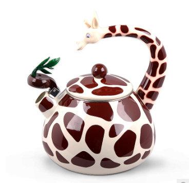 Whistling Enamel Giraffe Kettle