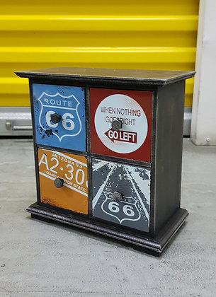Retro Industrial Route 66 - Medium 4 drawer PF03