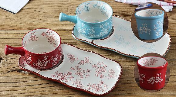 Lily 3pcs Soup Plate Set