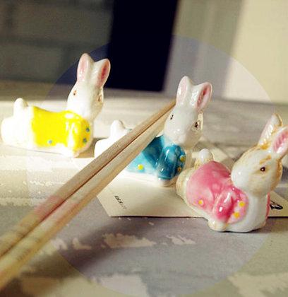 Easter Bunny Chopstick Rests - set of 3