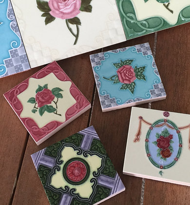 Peranakan Tile Magnet - 4pcs set
