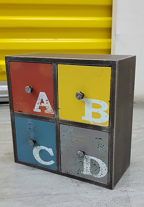 Retro Industrial ABC - Medium 4 drawer PF04