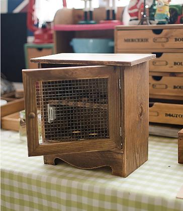 Mini Wooden Egg Cabinet