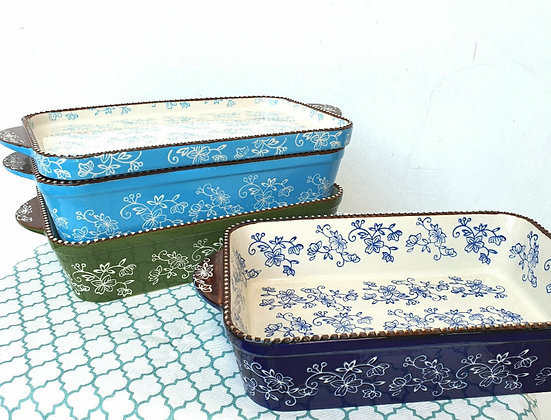 Lily Rectangular Casserole  with Lid/Dish (L)