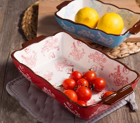 Lily Rectangular Scallop Edge Casserole