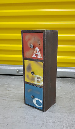 Retro Industrial ABC - 3 drawer PF05