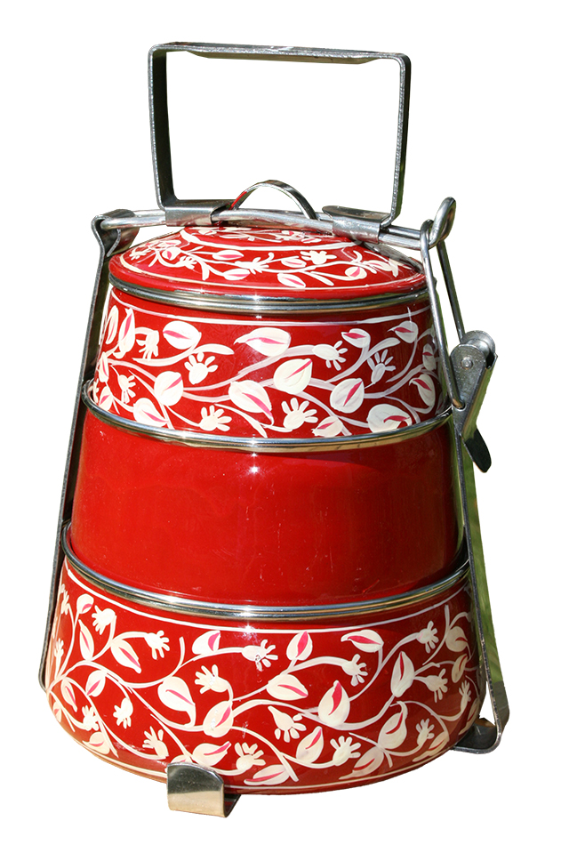 3-tier Pyramid Tiffin - Red