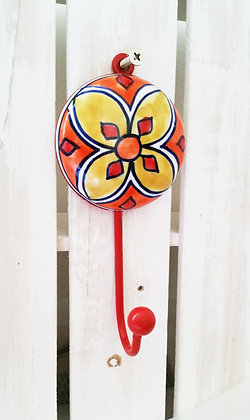 Hand Painted Large Ceramic Wall Hanger (Single)