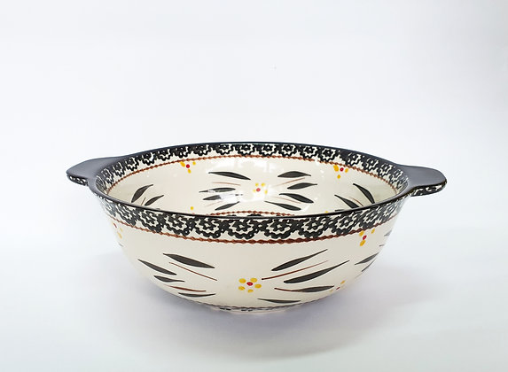 Zen Salad Bowl in Black - Medium