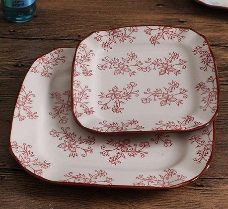 Lily 2pcs Plate Set