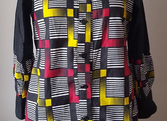 Oluwakemi Button Down Patterned Dress