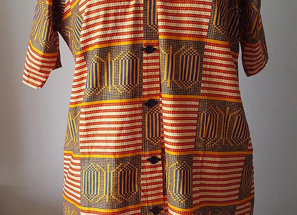 Chinara Checkerboard Patterned Dress Shirt