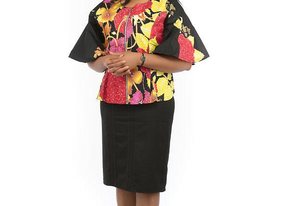 Njideka Embellished Black Top