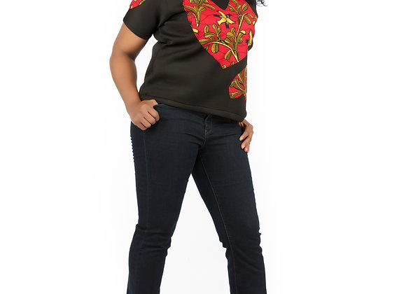 Faizah Black Tee-Shirt