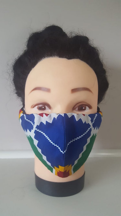 African Print Face Masks with Ear Loops