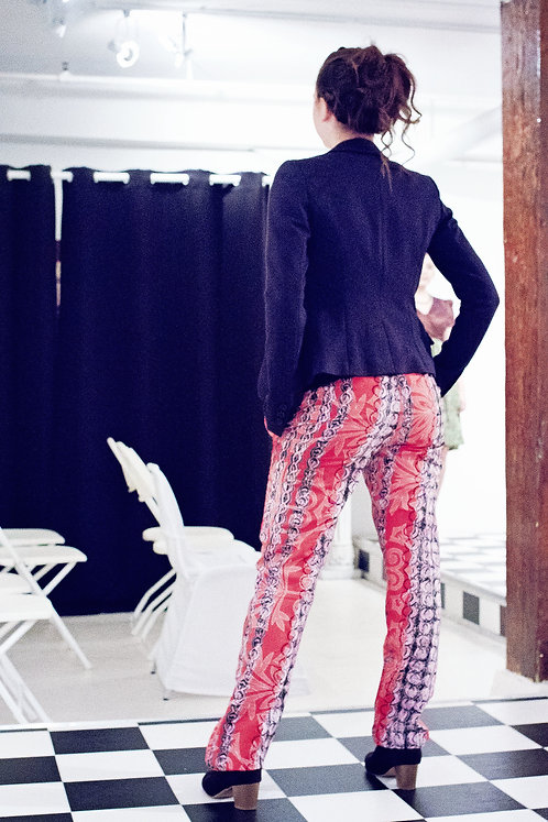 Adesuwa Red and White toned Pants