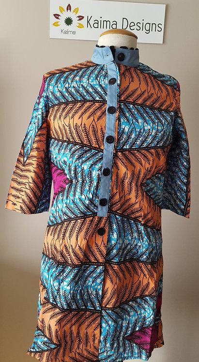 Chinara Fish Bone Patterned Dress Shirt