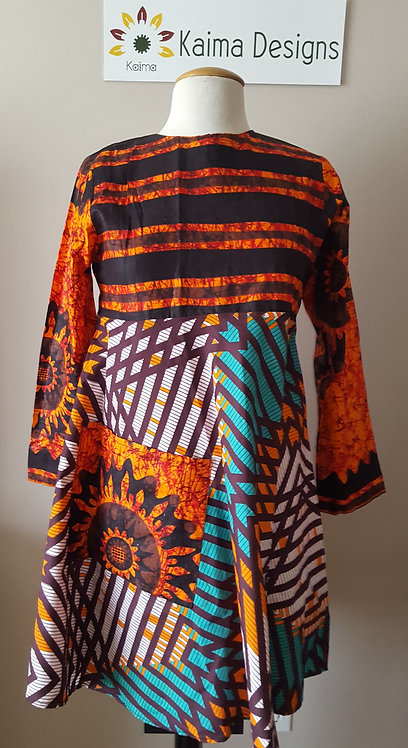 Busola Double Patterned Dress