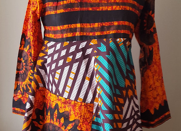 Busola Double Patterned Dress