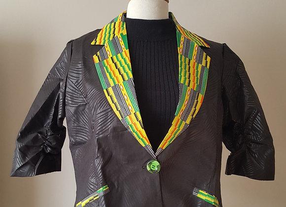 Binyelum Kente-Collared Jacket