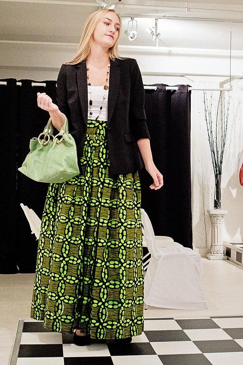 Ochuko Green Maxi Skirt