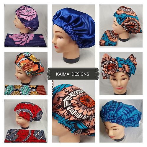 African Print Hair Bonnet