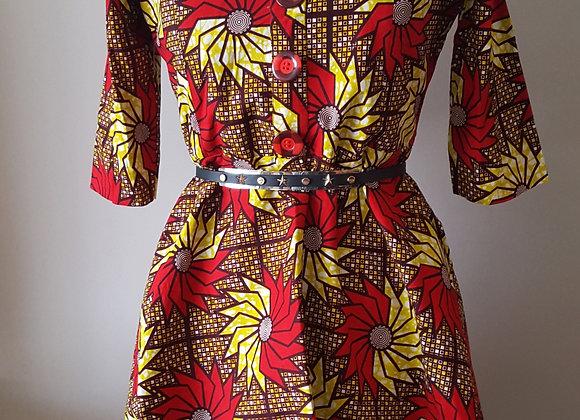 Tomi Pinwheel-Patterned Dress