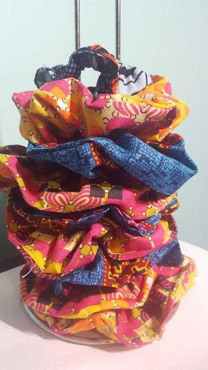 African Print Scrunchies