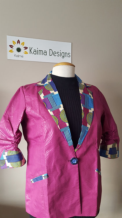 Binyelum Kente-Collared Jacket
