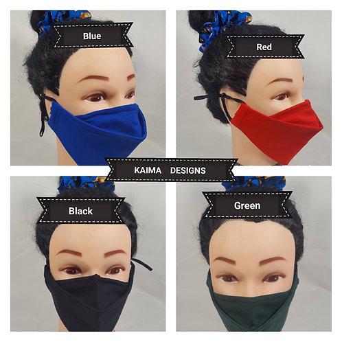 Plain 3D Face Masks