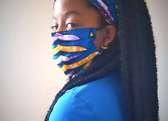 African Print Reversible Face Mask
