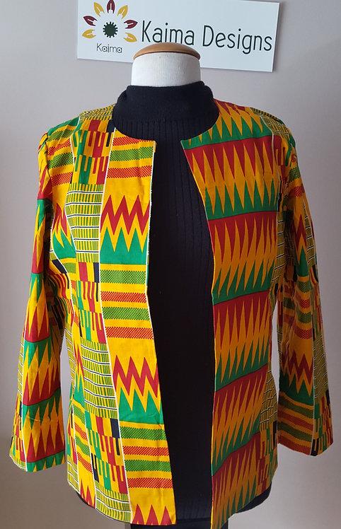 Thabisa Kente Open Jacket
