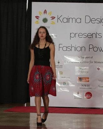 Olanne Red Midi Skirt