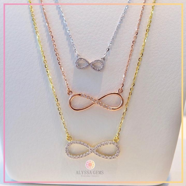Mini Eternity, Eternity, and Infinity Necklace