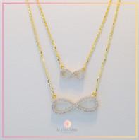 Mini Eternity and Eternity Necklace
